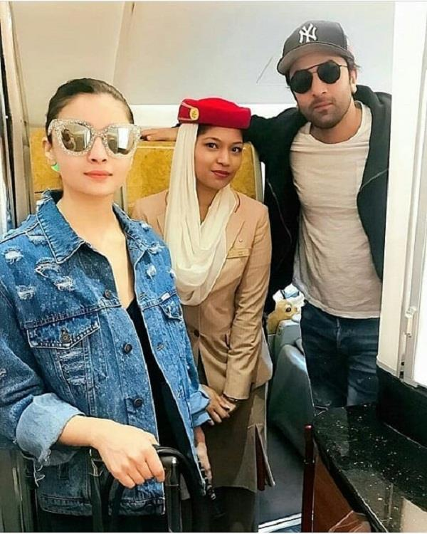 alia bhatt ranbir kapoor going for shooting of film brahmastra