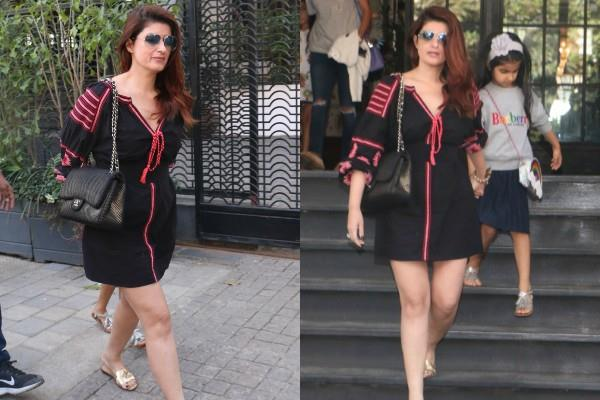 twinkle khanna day out with daughter nitara