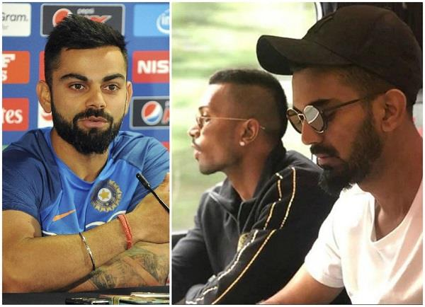kohli statement on pandya and kohli