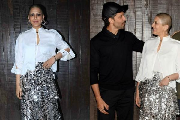 sonali bendre throw a birthday party