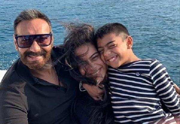 ajay devgn share a lovely picture with kajol and yug