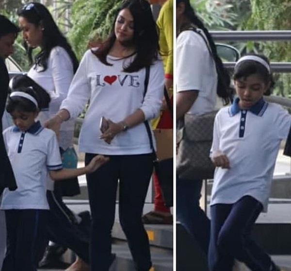 aishwarya rai spotted with daughter