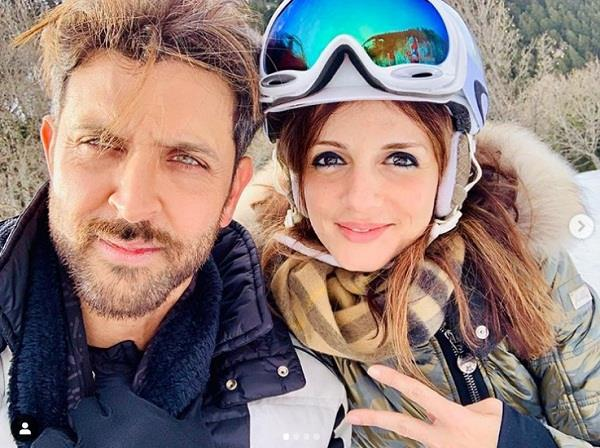 sussanne khan share romentic pics on hrithik birthday