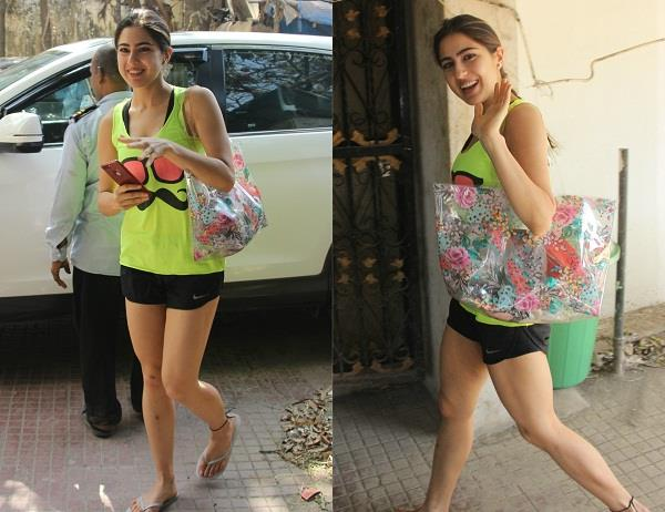 sara ali khan latest gym pictures