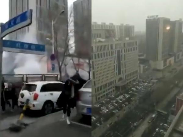 china 1 killed as serial explosions in shopping mall