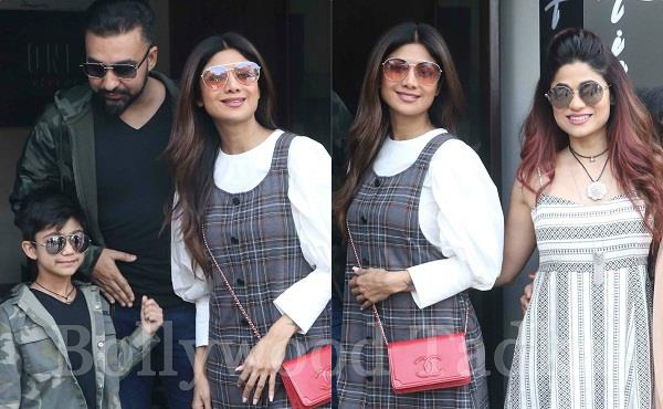 shilpa shetty enjoying sunday with family pictures