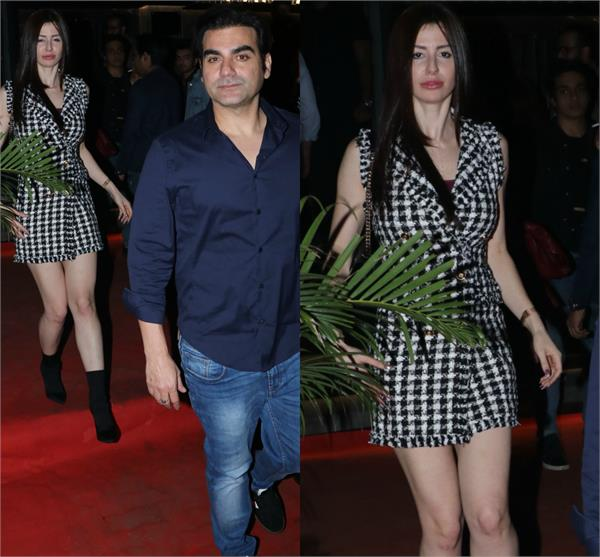 arbaaz spotted at dinner date with georgia