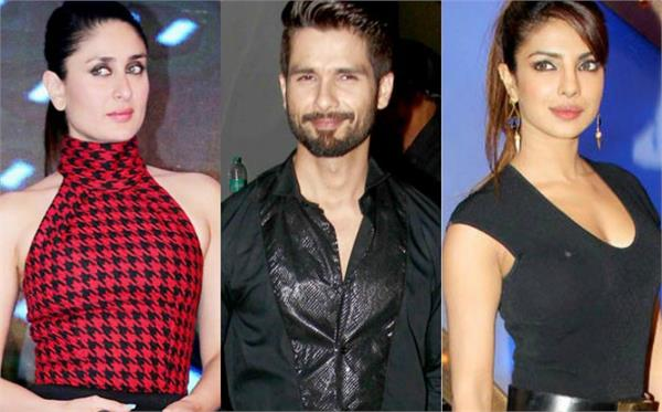 shahid kapoor talks about exes priyanka chopra kareena kapoor in karan chat show
