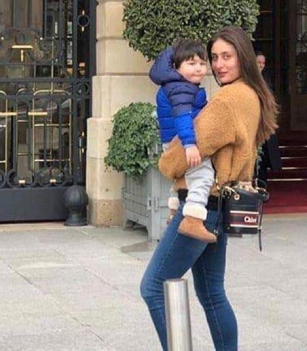 taimur ali khan in paris with mom kareena kapoor khan
