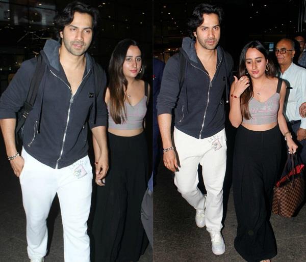 varun dhawan and natasha dalal are back in mumbai
