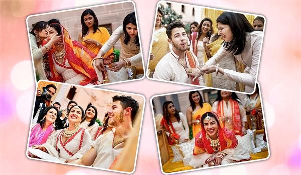 priyanka chopra nick jonas haldi ceremony pictures