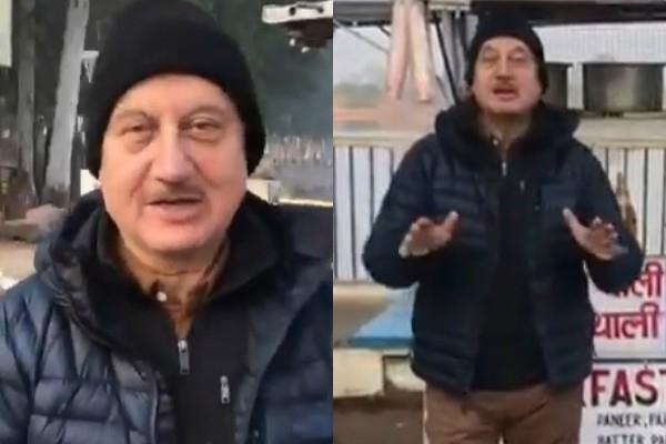 anupam kher share video