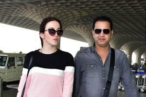 rahul mahajan spotted with wife
