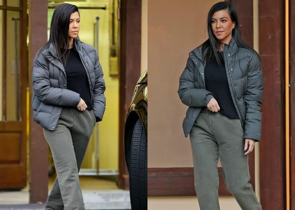 kourtney kardashian spotted at calabasas