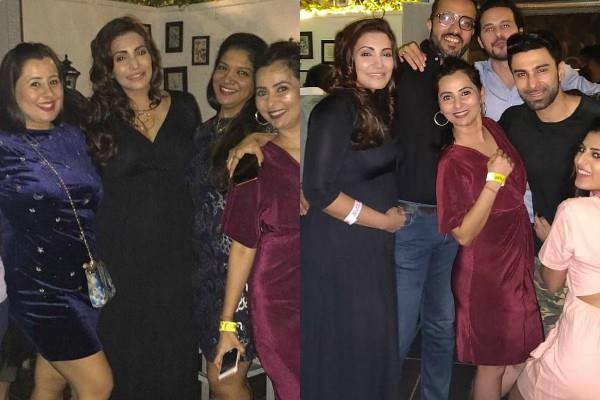 navina bole flaunts her baby bump in party