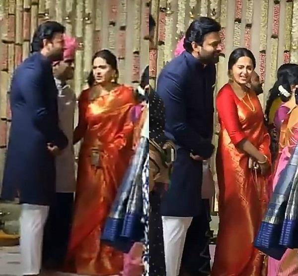 prabhas anushka shetty at rajamouli son wedding
