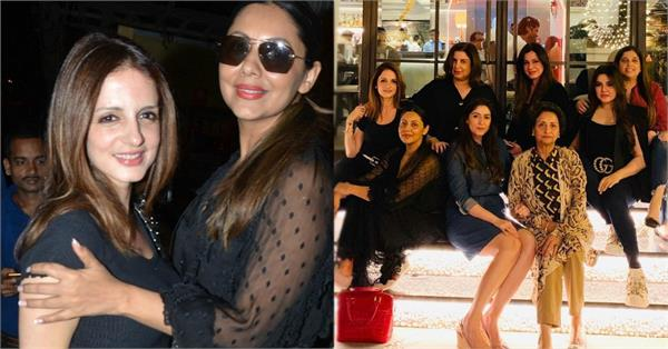 gauri khan sussanne khan enjoy a night out with friends