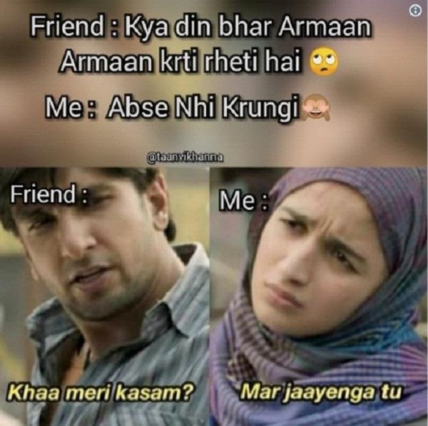 gully boy funny memes viral on social media