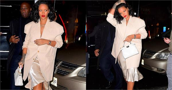 rihanna night out glamorous pictures