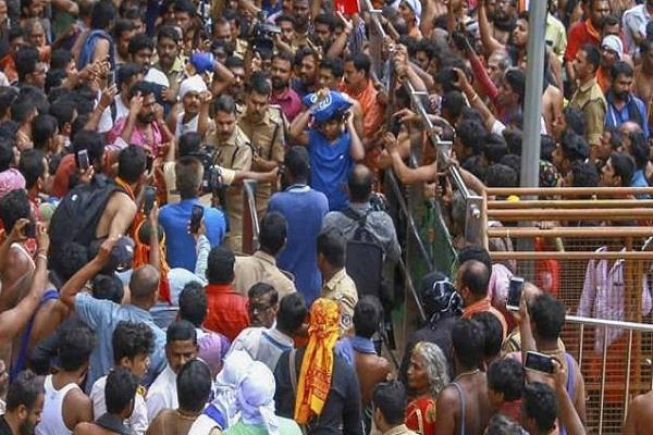 violence continues on the entry of women in sabarimala temple