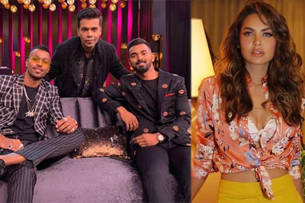 esha guptas slams hardik pandya for comments on karan johars show