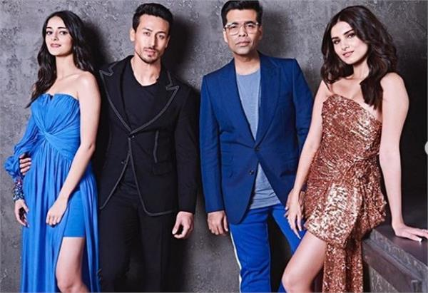 tiger with karan johar and student of the year star cast team