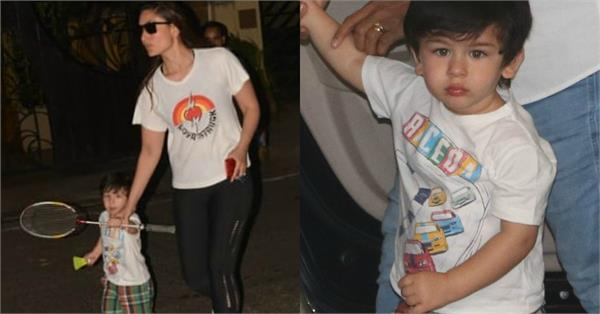taimur ali khan spotted with mummy kareena kapoor