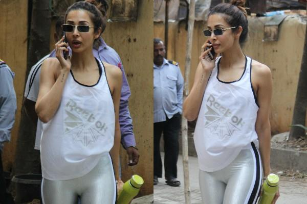 malaika arora spotted outside gym pictures