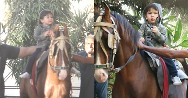 taimur ali khan horse riding pictures