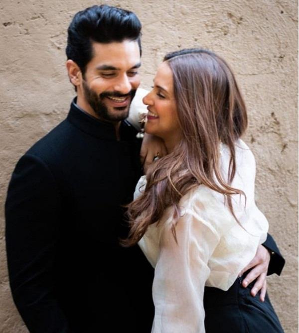 neha dhupia angad bedi birthday wish
