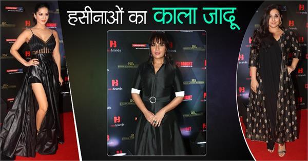 sunny leone richa chadha vidya balan at award show