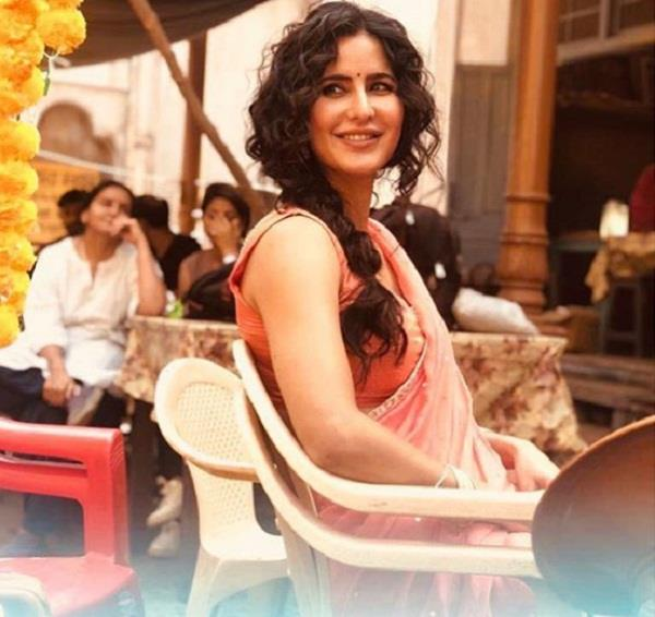 katrina kaif share picture from bharat set