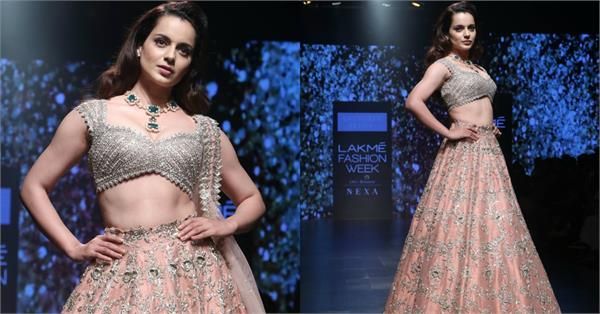 kangana ranaut at lakme fashion week 2019