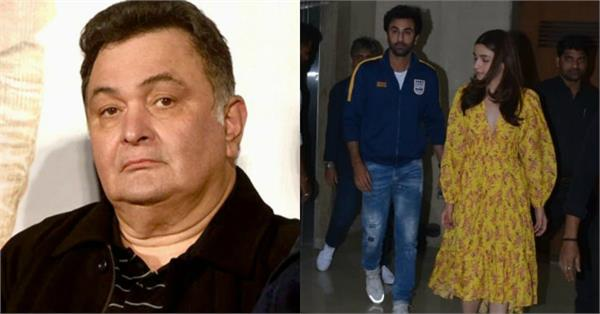 rishi kapoor his tweet after praise about alia bhatt