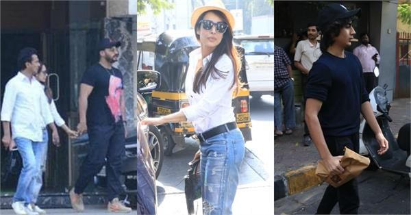 malaika arora spotted at lunch date with arjun kapoor and her son