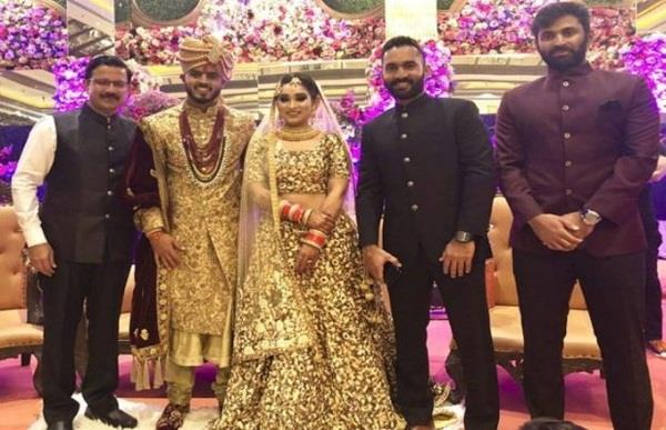 nitish rana was marriage bond with his girlfriend reached these cricketers