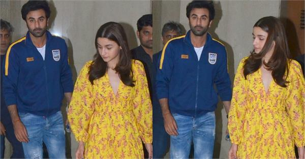 ranbir kapoor at gully boy screening with alia