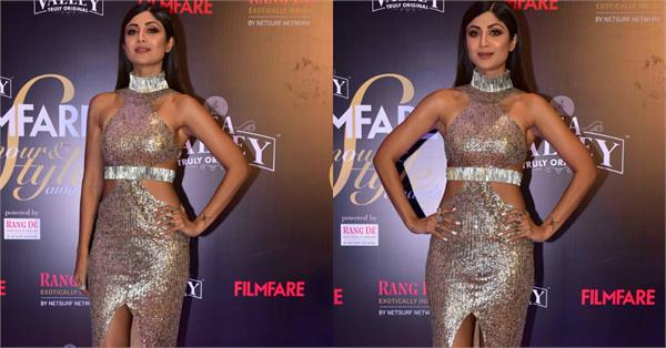 shilpa shetty at filmfare style and glamour awards