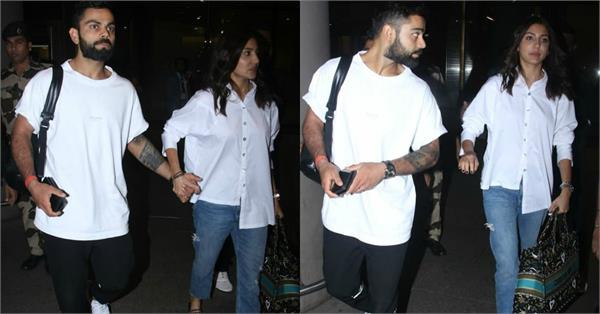 anushka sharma with virat kohli airport look