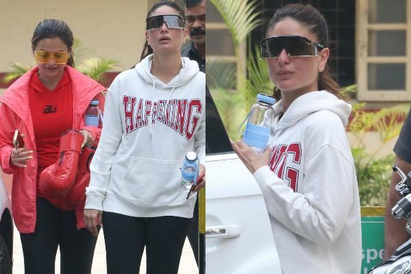 kareena amrita spotted at gym bandra