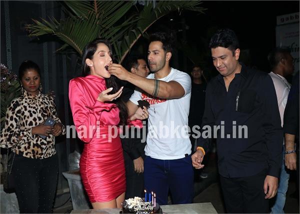 nora fatehi celebrated birthday with actor varun dhawan