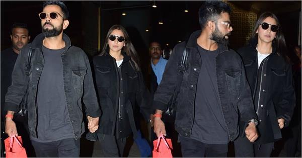 virat kohli anushka sharma spotted at airport