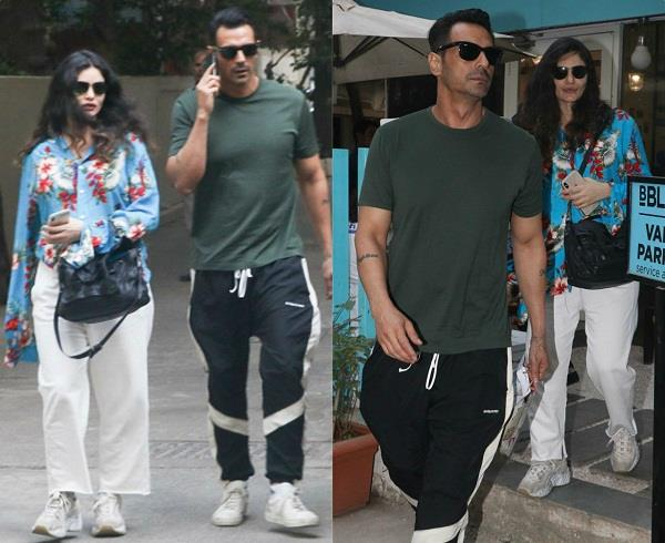 arjun rampal spotted with girlfriend gabriella