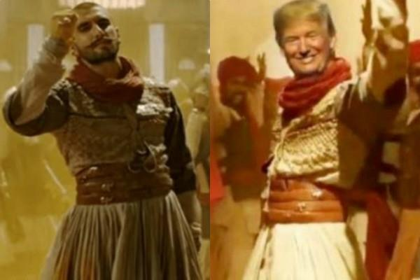 donald trump dancing on malhari song