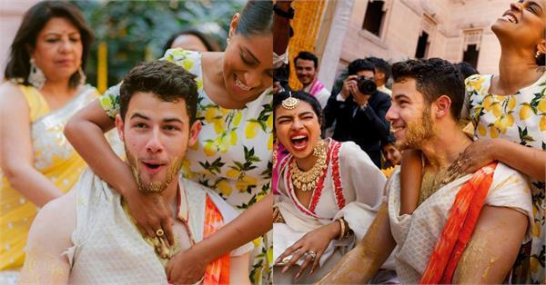 priyanka nick haldi ceremony pictures viral