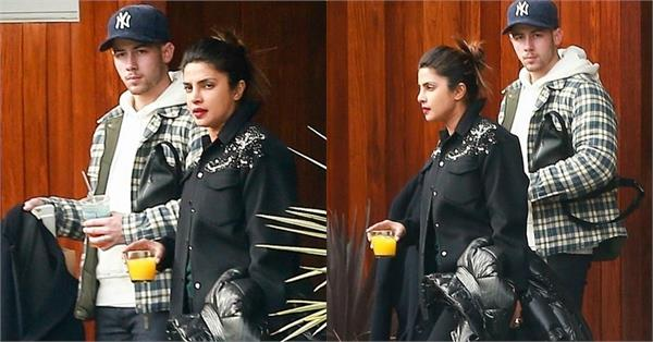 priyanka chopra spotted at airport with nick jonas