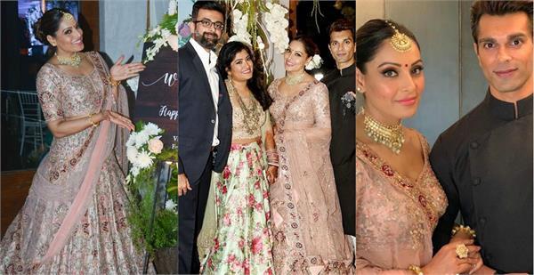 bipasha basu royal look at sister vijayeta basu reception party