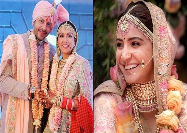 neeti mohan copied anushka sharma lehengas on their wedding