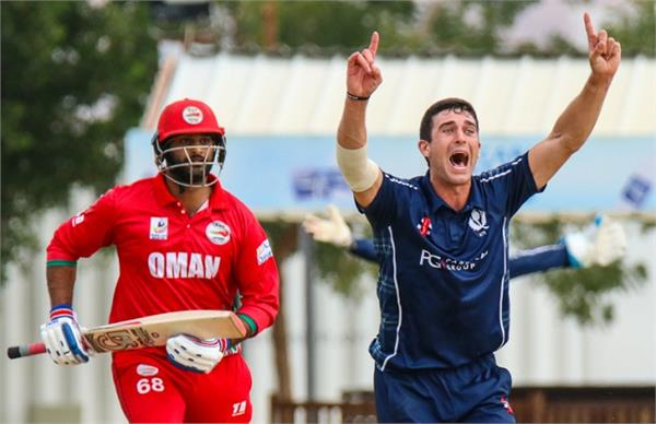 oman out for just 24 runs scotland won in 20 balls