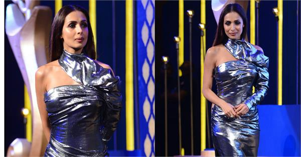 malaika arora looks hot in metallic dress